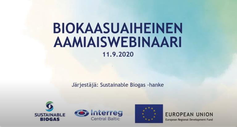 11.9.2020 Opening webinar in Finland