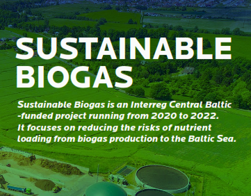 Read more about the article 30.3.2021 Sustainable Biogas project brochure now available!
